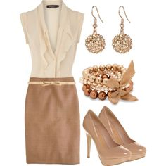 Professional Outfit - Nude / Creamy Natural - Great blouse!!!