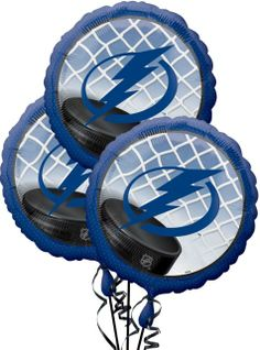 Tampa Bay Lightning Balloons 3ct - NHL Teams - Sports Theme Party - Theme Parties - Categories - Party City