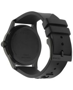b7346919822bb Gucci Unisex Swiss G-Timeless Black Rubber Strap Watch - Black