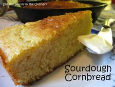 Until recently, I would not have been among the cornbread lovers. It was okay piping hot out of the oven, but then? Not so much. But now. Now I have a recipe I like and one I'm glad to share with you. Baked in a cast iron skillet, a crisp crust surrounds a lovely moist center. Try it and I think you'll join the crowd who loves cornbread.