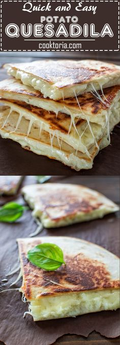 This tasty Mashed Potato Quesadilla makes a quick and filling 10-minute lunch! It is a one of the most loved recipes in my family! ❤ COOKTORIA.COM