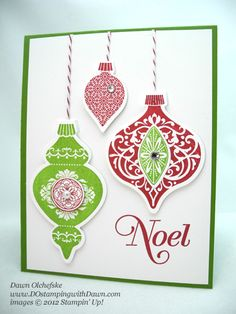 Love this card using the new SU  Ornament-Keepsake-Laurie