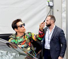 Ben Stiller stayed in character as Derek Zoolander shooting Zoolander 2 amidst Paris Fashion Week March 10. Zoolander, Celebrity Selfies, Celebrity Style, Ben Stiller, Films, Movies, Best Actor, Friends Family, Kendall Jenner