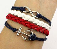 Jewelry braceletInfinity wish braceletanchor bracelet by handworld, $5.29