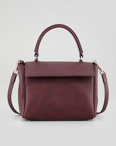 Kelly Mini Leather Crossbody Bag, Prune by Brunello Cucinelli at Neiman Marcus.1145$