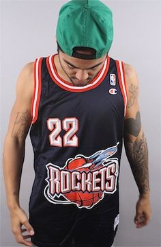 Vintage Clyde Drexler Houston Rockets Jersey wcTNePNO