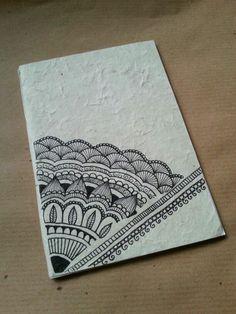 Diy notebook in rice paper or envelope. Mandala Doodle, Mandala Art, Croquis Mandala, Mandalas Painting, Mandalas Drawing, Zen Doodle, Doodle Art, Henna Drawings, Doodle Drawings