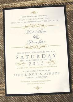 Vintage Elegance Wedding Invitation. $2.25, via Etsy.