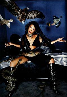 "fashionphotographyscans: "" Year: 2001 Models: Aaliyah Photographer: David LaChapelle """