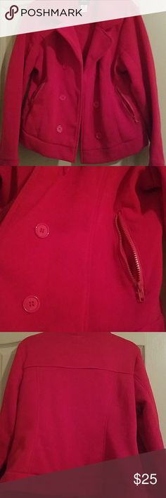 Short Jacket Red with zippered pockets Jackets & Coats Blazers