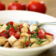 Easy, delicious and healthy Caprese Salad with Pasta recipe from SparkRecipes. See our top-rated recipes for Caprese Salad with Pasta. Caprese Pasta Salad, Summer Pasta Salad, Summer Salads, Tortellini Salad, Summer Food, Pasta Recipes, Salad Recipes, Healthy Recipes, Healthy Meals