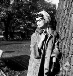 Jolanta Umecka w obiektywie Jerzego Troszczyńskiego, 18 października 1963 roku.