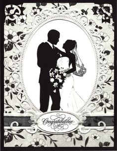Wedding Silhouette by cards4joy - Cards and Paper Crafts at Splitcoaststampers