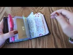 Micro Speckled Fawns Traveler's Notebook Wallet Setup