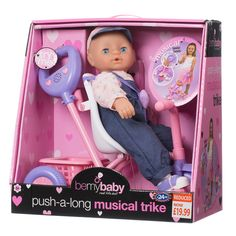 B&M Bemybaby Push-a-Long Musical Trike - 256546 All Kids, Moving House, Babys, Kids Toys, Baby Car Seats, Toddlers, Musicals, Christmas Gifts, Wallpaper