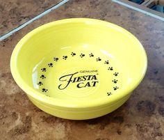 fiestaware Fiesta Yellow cat bowl... someday soon!