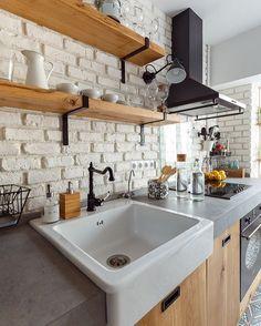 """506 curtidas, 7 comentários - ⠀⠀⠀⠀⠀⠀⠀⠀⠀O seu projeto Online! (@designcoolture) no Instagram: """"Cozinha com ar industrial ❤️"""""""