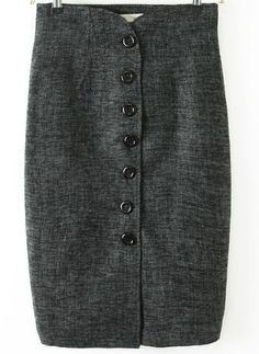 Shop Grey Slim Buttons Bodycon Skirt online. Sheinside offers Grey Slim Buttons Bodycon Skirt & more to fit your fashionable needs. Free Shipping Worldwide!