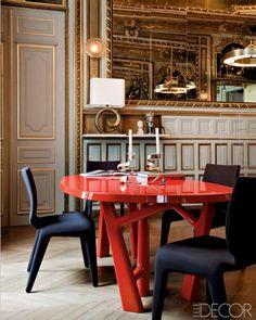 1860s Paris apartment designed by Klavs Rosenfalck. Nicolas Mathéus for Elle Decoration.
