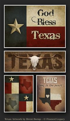 Texas Artwork by Brent Borup