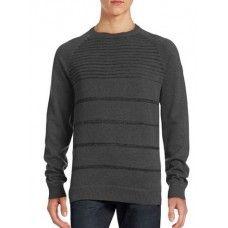 POINT ZERO Striped Raglan Sleeve Sweater
