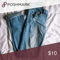 HOLLISTER Distressed Skinny Jeans Condition: Great condition  Size: 5 Regular  Color: light wash  No tears,rips,stains. Hollister Pants Skinny