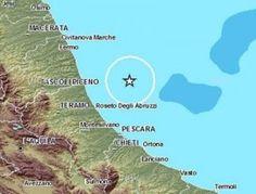 Terremoto al largo della costa teramana, avvertito anche nelle Marche
