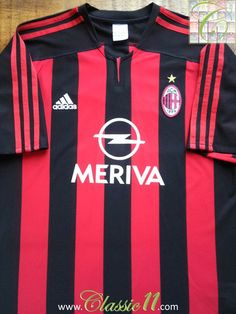 Relive AC Milan's 2003/2004 season with this vintage Adidas home football shirt.