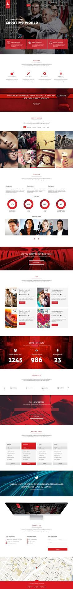 Doors Onepage MultiPurpose WordPress Theme on Behance