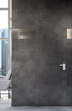 Fireproof flush wall doors by Garofoli