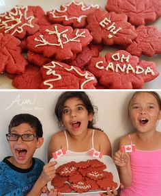 Red Maple Leaf Cookie Recipe for Canada Day by Brenda Ponnay for Alphamom.com