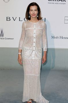 Carole Bouquet in Chanel at Cannes 2014