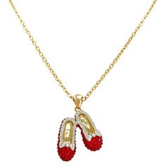 Dorothy Wizard of Oz crystal necklace