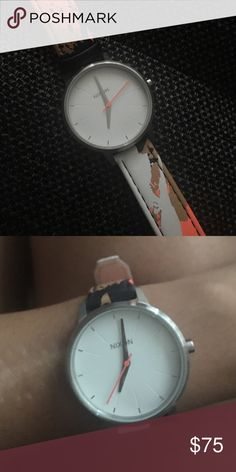 Nixon watch - leather multicolored strap Used 1 time, no signs of wear Nixon Accessories Watches