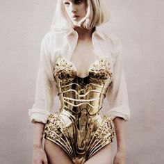Gold corset metal - Thierry Mugler