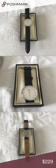 Daniel Wellington Classic Sheffield Watch 40mm In color black and silver. If you have any questions, please leave a comment below! Also, if you don't like my price, submit an offer and I'll consider it. :) Daniel Wellington Accessories Watches