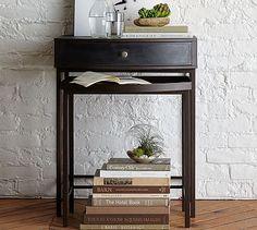Woodrow Metal Nesting Bedside Tables, Set of 2 #potterybarn