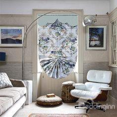 Designer Cute Mediterranean Style Bow Fan Shaped Roman Shades | Mediterranean  Style, Roman And Fans
