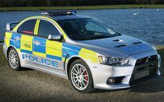 Cool Police Mitsubishi Evo X British Police Cars, Rescue Vehicles, Police Vehicles, Police Patrol, Evo X, Jaguar Xf, Car Badges, Cars Uk, Mitsubishi Lancer Evolution