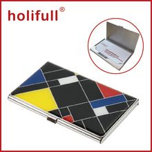 Promotion epoxy cover business card case, Metal Name Card Holder,stainless steel card case