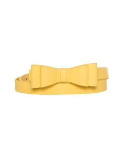 Maddie Bow Belt | Lemon Yellow | Belt Belt Shop, Yellow Belt, Soft Gamine, Bow Belt, Bow Design, Review Fashion, Soft Summer, Grace Kelly, Accessories Shop
