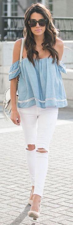 Lässig! Sommeroutfit in Weiß und hellem Eisblau (Farbpassnummer 16) Kerstin Tomancok / Farb-, Typ-, Stil & Imageberatung