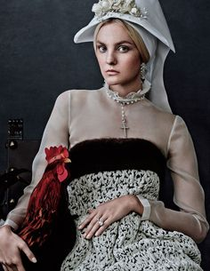 """Modern Victorian ◆ """"Caroline's Symphony"""" from Vogue Japan, featuring Caroline Trentini, photographed by Giampaolo Sgura, styled by Anna Dello Russo"""