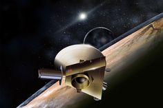 La nave New Horizons, que actualmente está precipitándose a través del espacio entre Júpiter y Plutón, llegará al planeta anterior de un año para capturar las primeras imágenes en primer plano de su superficie helada.