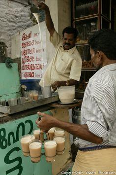 Hot tea with milk, Kerala, India. Photo: Owen Franken