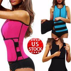 320de0fe33 Neoprene Sauna Waist Trainer Vest Hot Shaper Summer Workout Shaperwear  Slimming Adjustable Sweat Belt Fajas Body Shaper  USPS