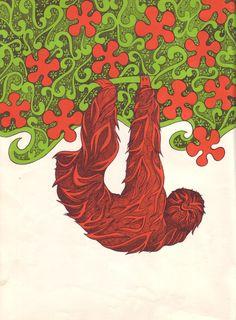 A_Paper_Zoo,_illustrations_by_Ellen_Raskin,_1968,_sloth_(3469726460).jpg (2000×2714)