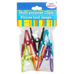Strong, powerful clips keep a tight grip. Great for sealing open bags of snacks to keep the freshness in or keeping stacks of paper together. Ideal for use in t Living On A Budget, Kitchen On A Budget, Binder Clip Hacks, Binder Clips, Office Basics, Dollar Tree Finds, Dorm Room Organization, Organization Ideas, Organizing