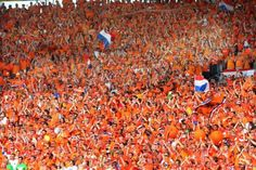 this is how Dutch people dress...during football matches...and queens day ;)