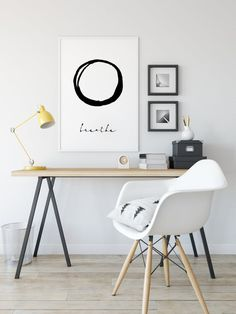 Feminine Office Decor, Modern Office Decor, Home Office Decor, Office Ideas, Home Decor, Home Office Space, Office Wall Art, Home Office Design, Quote Prints